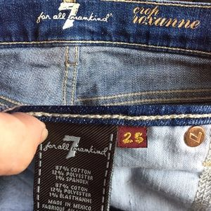 7 For All Mankind Jeans - 7 For All Mankind 7FAMK Jeans Crop Roxanne Size 25